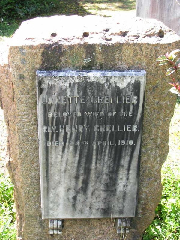 tombstone janette grellier